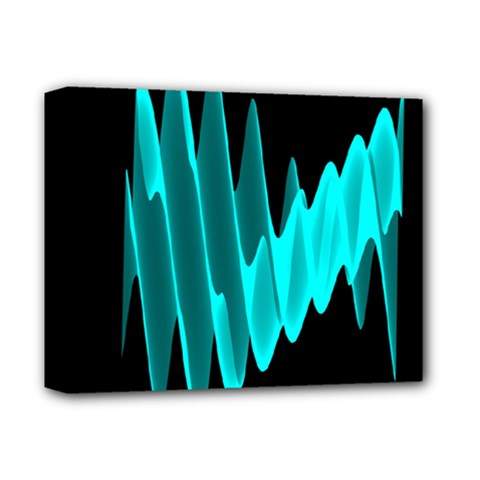 Wave Pattern Vector Design Deluxe Canvas 14  X 11