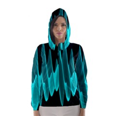 Wave Pattern Vector Design Hooded Wind Breaker (women)