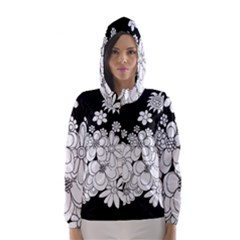 Mandala Calming Coloring Page Hooded Wind Breaker (women)