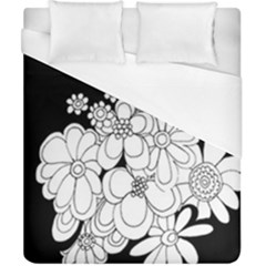 Mandala Calming Coloring Page Duvet Cover (california King Size) by Nexatart