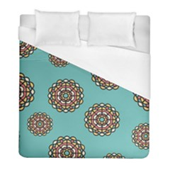 Circle Vector Background Abstract Duvet Cover (full/ Double Size) by Nexatart