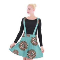 Circle Vector Background Abstract Suspender Skater Skirt