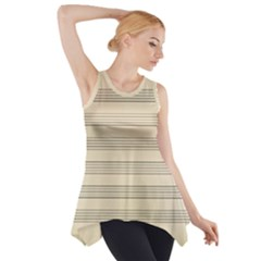 Notenblatt Paper Music Old Yellow Side Drop Tank Tunic by Nexatart