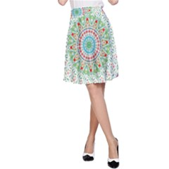 Flower Abstract Floral A Line Skirt