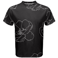 Rose Wild Seamless Pattern Flower Men s Cotton Tee