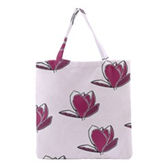 Magnolia Seamless Pattern Flower Grocery Tote Bag by Nexatart