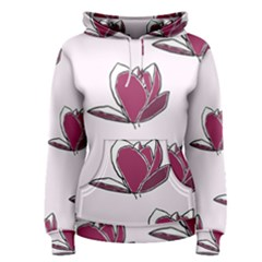Magnolia Seamless Pattern Flower Women s Pullover Hoodie