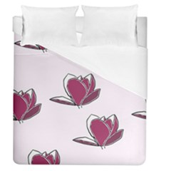 Magnolia Seamless Pattern Flower Duvet Cover (Queen Size)