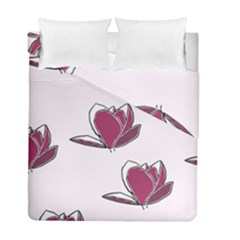 Magnolia Seamless Pattern Flower Duvet Cover Double Side (Full/ Double Size)