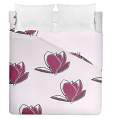 Magnolia Seamless Pattern Flower Duvet Cover Double Side (Queen Size)