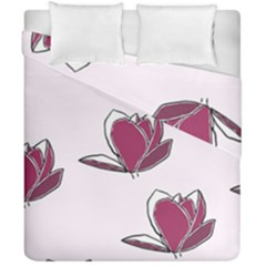 Magnolia Seamless Pattern Flower Duvet Cover Double Side (California King Size)
