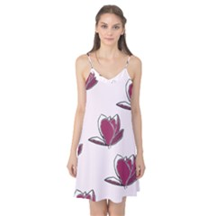 Magnolia Seamless Pattern Flower Camis Nightgown