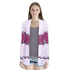 Magnolia Seamless Pattern Flower Cardigans