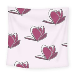 Magnolia Seamless Pattern Flower Square Tapestry (Large)