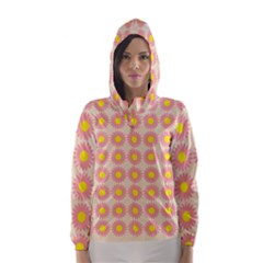 Pattern Flower Background Wallpaper Hooded Wind Breaker (women)