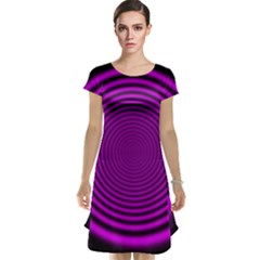 Background Coloring Circle Colors Cap Sleeve Nightdress