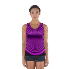 Background Coloring Circle Colors Women s Sport Tank Top