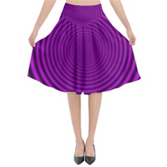 Background Coloring Circle Colors Flared Midi Skirt
