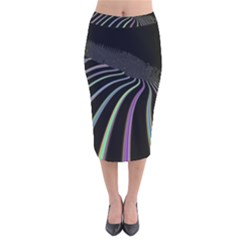 Graphic Design Graphic Design Velvet Midi Pencil Skirt by Nexatart