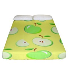 Apples Apple Pattern Vector Green Fitted Sheet (california King Size)
