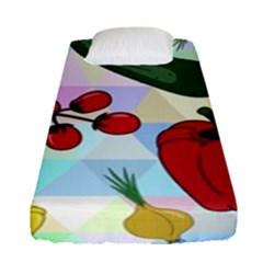 Vegetables Cucumber Tomato Fitted Sheet (single Size) by Nexatart