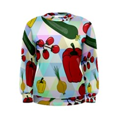 Vegetables Cucumber Tomato Women s Sweatshirt by Nexatart