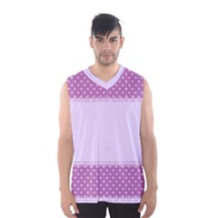 Purple Modern Men s Basketball Tank Top