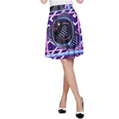 Abstract Sphere Room 3d Design A Line Skirt