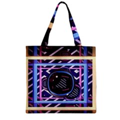 Abstract Sphere Room 3d Design Zipper Grocery Tote Bag by Nexatart