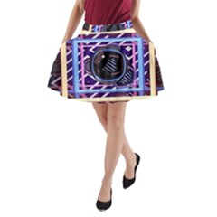 Abstract Sphere Room 3d Design A Line Pocket Skirt by Nexatart