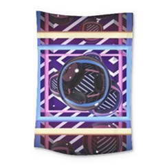 Abstract Sphere Room 3d Design Small Tapestry