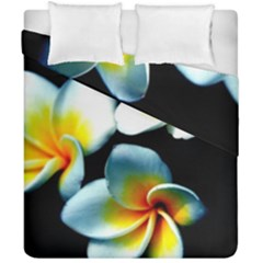 Flowers Black White Bunch Floral Duvet Cover Double Side (california King Size)