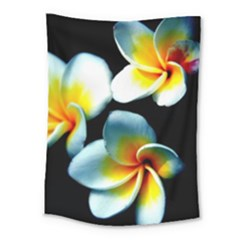 Flowers Black White Bunch Floral Medium Tapestry