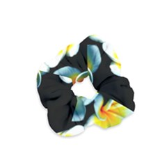 Flowers Black White Bunch Floral Velvet Scrunchie by Nexatart