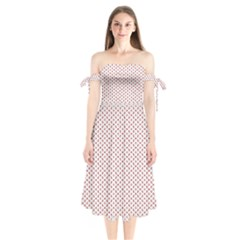 Motif Pattern Decor Backround Shoulder Tie Bardot Midi Dress