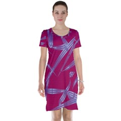Background Vector Texture Pattern Short Sleeve Nightdress