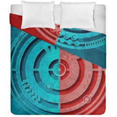 Vector Watch Texture Red Blue Duvet Cover Double Side (california King Size) by Nexatart