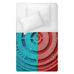 Vector Watch Texture Red Blue Duvet Cover (single Size) by Nexatart