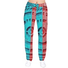 Vector Watch Texture Red Blue Drawstring Pants by Nexatart