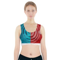 Vector Watch Texture Red Blue Sports Bra With Pocket by Nexatart