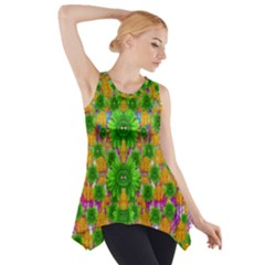 Jungle Love In Fantasy Landscape Of Freedom Peace Side Drop Tank Tunic by pepitasart