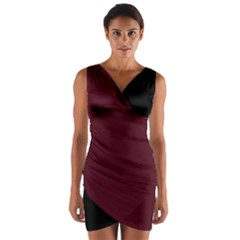 Berry Black Warp Front Bodycon Dress by MissUniqueDesignerIs