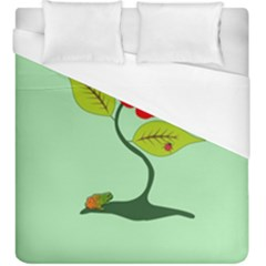 Plant And Flower Duvet Cover (king Size) by linceazul