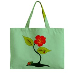 Plant And Flower Medium Zipper Tote Bag by linceazul
