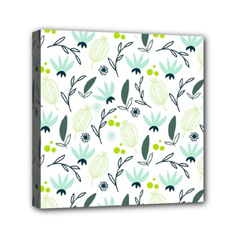 Hand Drawm Seamless Floral Pattern Mini Canvas 6  X 6  by TastefulDesigns