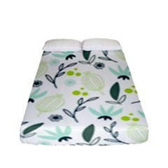 Hand Drawm Seamless Floral Pattern Fitted Sheet (full/ Double Size) by TastefulDesigns
