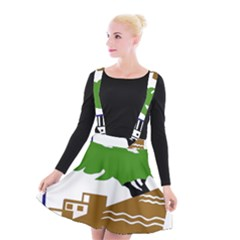 Coat Of Arms Of Holon  Suspender Skater Skirt by abbeyz71