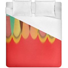 Colors On Red Duvet Cover (california King Size) by linceazul
