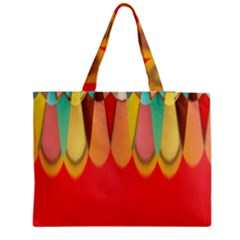 Colors On Red Medium Tote Bag by linceazul