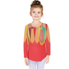 Colors On Red Kids  Long Sleeve Tee by linceazul
